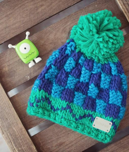 Chunky knitted babies bobble - Green Bobble