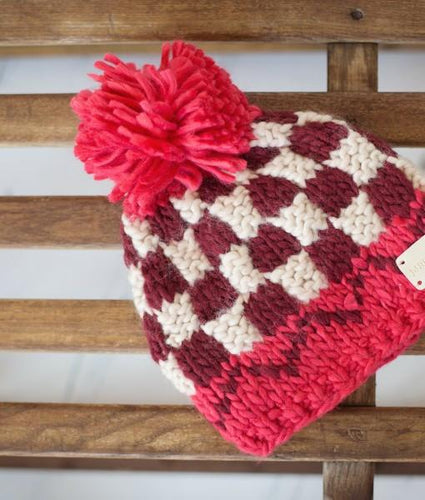 Chunky knitted babies bobble - Red Bobble