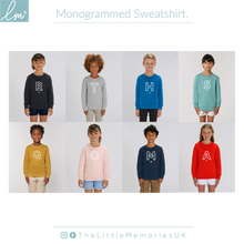 Load image into Gallery viewer, Monogram Letter Sweatshirt