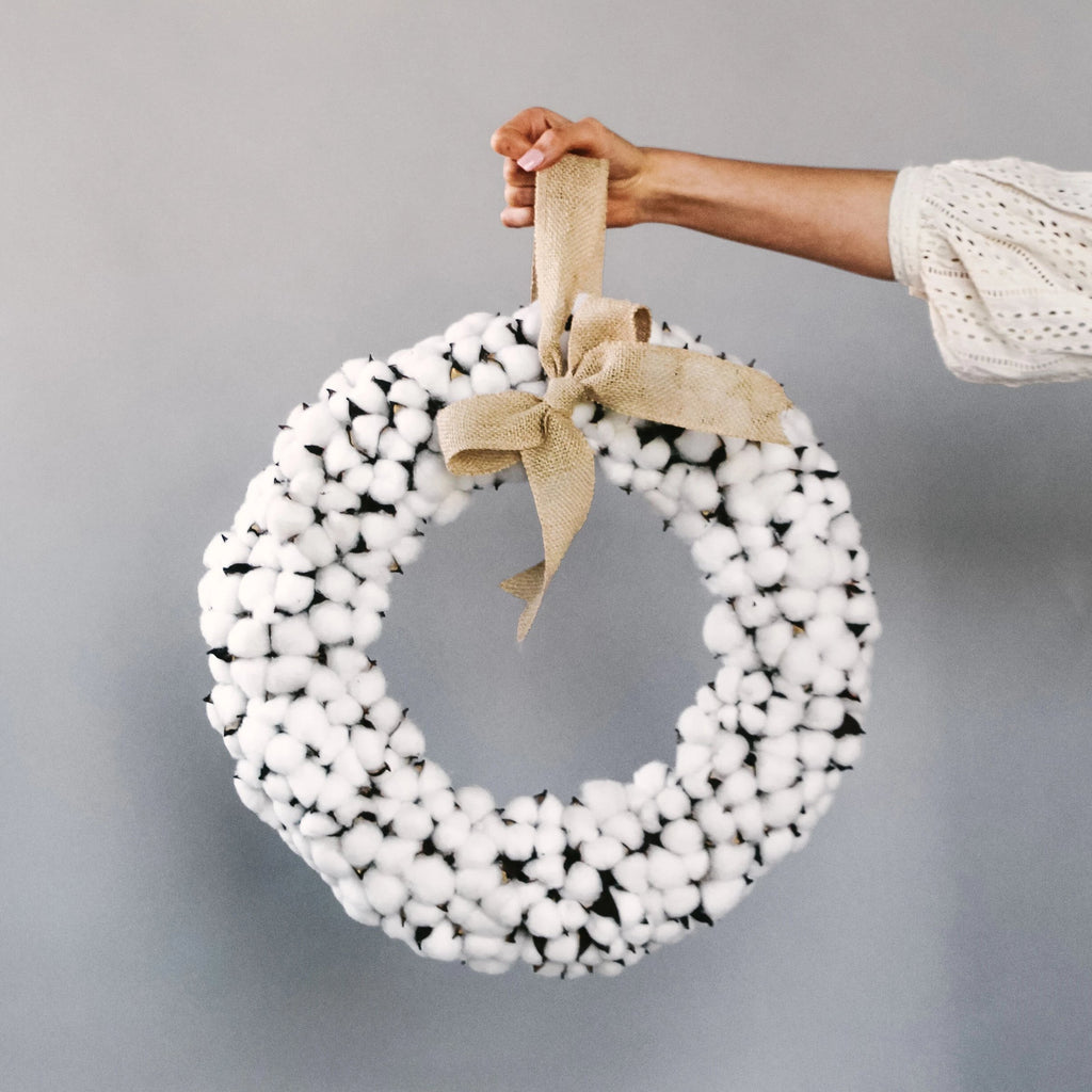 Cotton Sprig Wreath