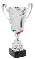 0119-3502 Checo- Silver trophy cup with Mexican flag colors
