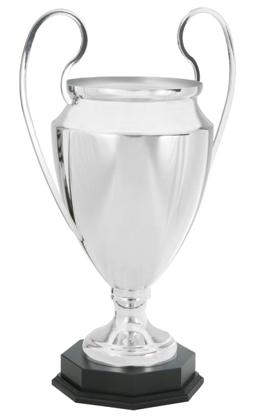 0119-6300 Il Fenomeno - Silver trophy cup on wood base