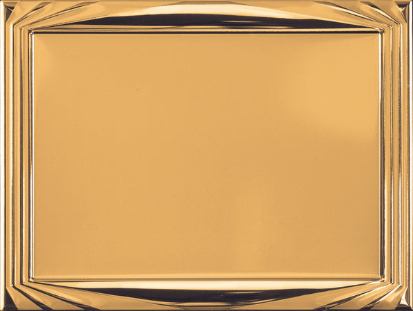 0619-0201 Gold embossed metal plaque.