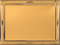 0619-0302 Gold embossed metal plaque