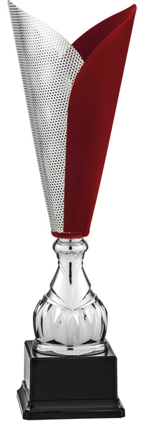 9242/3 9240/3 Sartor- Silver and mahogany velvet cover laser cut trophy cup.