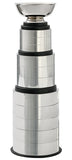 CF-1150 The Cake 2  Perpetual Silver trophy cup with 3, 3 & 5 metal bands and wood base