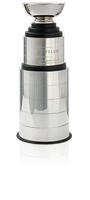 CF-650  Perpetual Silver trophy cup with 3 & 5 metal bands and wood base