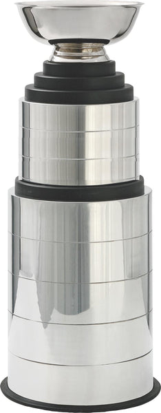 CF-950  Perpetual Silver trophy cup with 3 & 5 metal bands and wood base