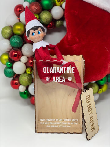 Personalized Elf Quarantine Box