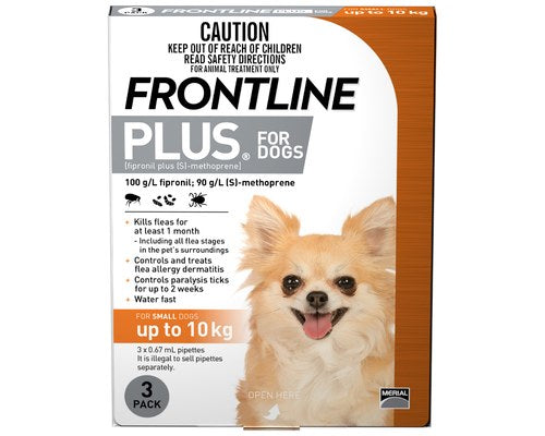 Frontline Plus 3 Pack - Small Dog 0-10kg