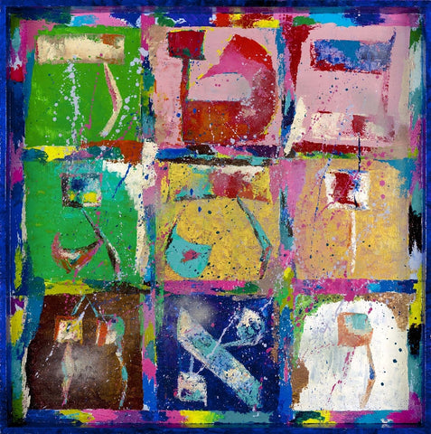 MAGIC SQUARE BLUE - GICLEE ON CANVAS