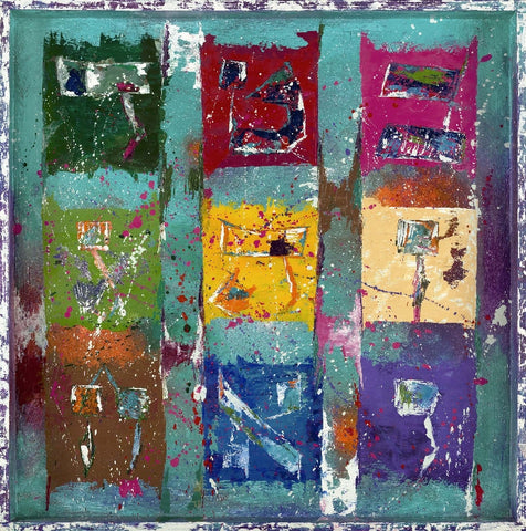 MAGIC SQUARE TURQUESE - GICLEE ON CANVAS