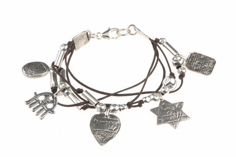 Kabbalah Protection Bracelet - 925 Silver, 5 Charms