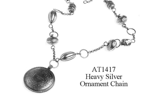 72 Names & Archangels 925 Silver Amulet - 70cm Heavy Silver Ornament Chain