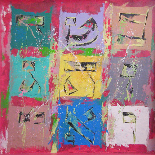 MAGIC SQUARE RED - GICLEE ON CANVAS