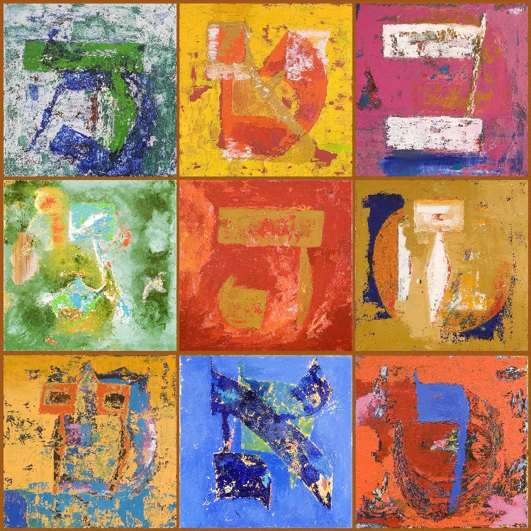 BIG MAGIC SQUARE COLORFUL - GICLEE ON CANVAS 1.8m x 1.8m