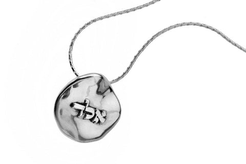 Electroforming Silver Letters Pendant - Alef Lamed Dalet א.ל.ד