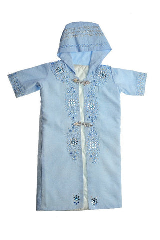 Brit Mila (Circumcision) Traditional Baby Gown with Kabbalistic Names of Protection Embroidery