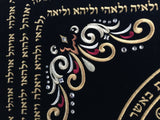 Kabbalah Home Protection Wall Tapestry Kabbalah Holy Names 140cm x 101cm