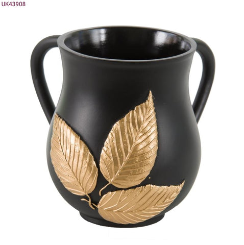 Washing Cup / Polyresin / Gold Leaves 908