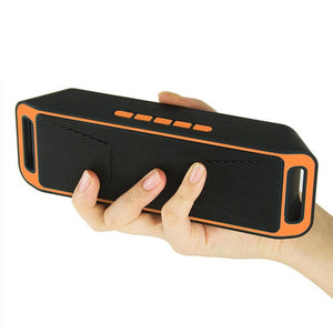 HobbyLane Mini Bluetooth Speaker Portable Wireless Speaker Sound System Flash FM Radio Stereo Music Surround Support TF USB d29