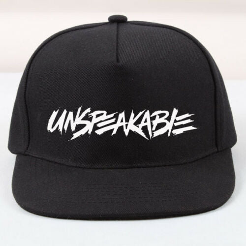 PRINTED UNSPEAKABLE BLACK SNAPBACK CAP HAT NATHAN GAMER VLOGGER ONE SIZE GAMING