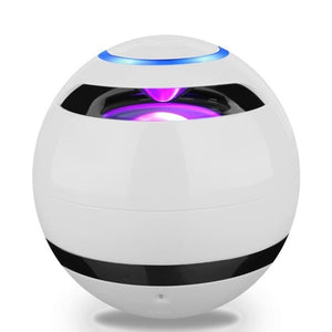 Ball Bluetooth Speaker With LED Light Portable Wireless Mini Speaker Subwoofer With Mic FM Multicolored Ball with Light Speaker
