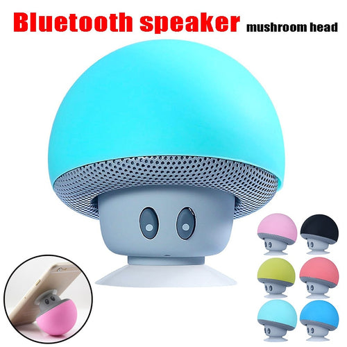 cute Mini Wireless Bluetooth Speaker socket MP3 Music Player with Mic Waterproof Portable Stereo Bluetooth Mushroom For Phone PC