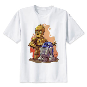 star wars t shirt Men funny darth vader T-Shirt starwars porg stormtrooper bb8 top Tee Clothes star-wars tshirt