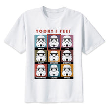 Load image into Gallery viewer, star wars t shirt Men funny darth vader T-Shirt starwars porg stormtrooper bb8 top Tee Clothes star-wars tshirt