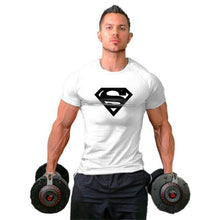 Load image into Gallery viewer, Mens Fit T-shirts Superman Bodybuilding Fitness T Shirts Gyms Cotton Mens Short Sleeve Tees Workout tshirt Muscle Hip Hop