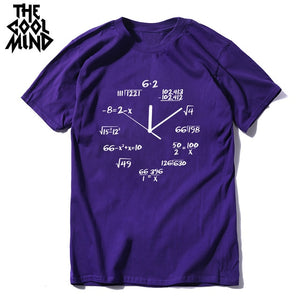 Men MATH Clock Tee