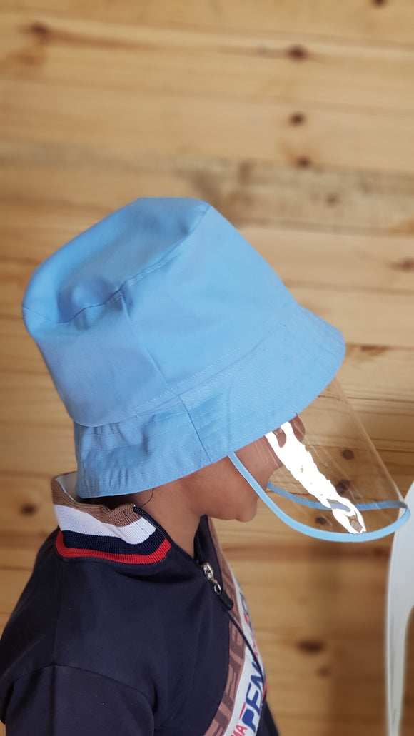 Kids Bucket Hat with Detachable shield - Small size (1 to 3 year olds)