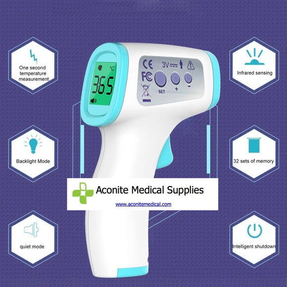 Infrared Thermometer + Handsfree Sanitiser Stand