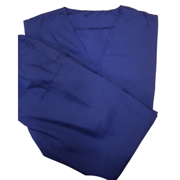 Classic Medical and Nursing Scrubs Set - Poly Cotton Reusable