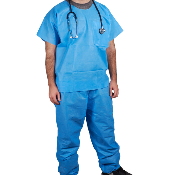 Disposable Medical and Nursing Scrubs Set - Non woven disposable