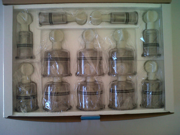 Screw Type Cupping Set with 12 cups