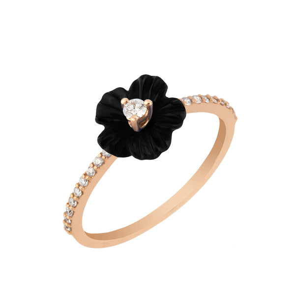Black Swan Rose Ring