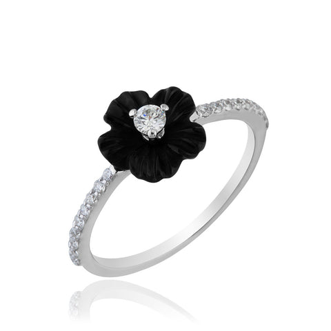 Black Swan White Ring