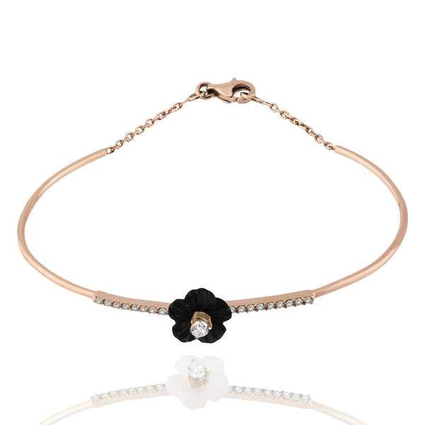 Black Swan Bloom Bracelet