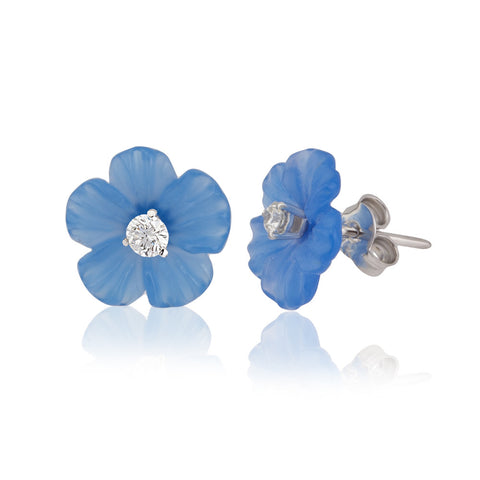 Blue Petals 12 Earrings
