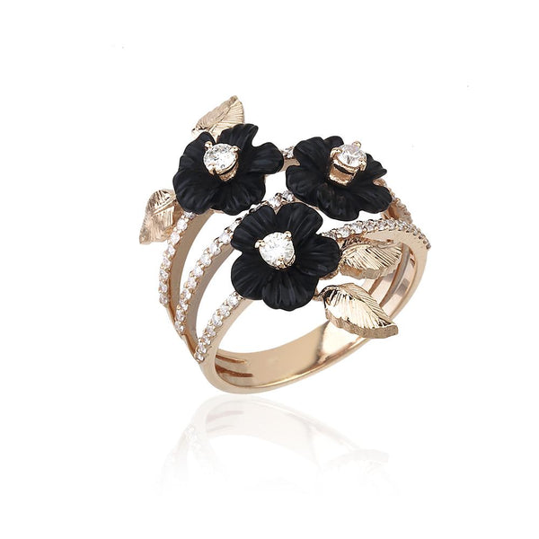 Black Swan Profuse Ring