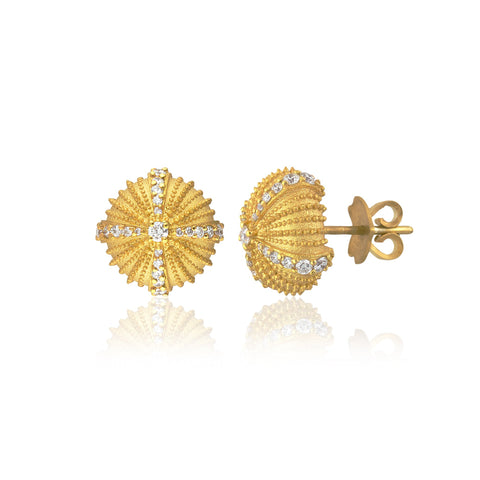 Mini Urchinia Gold Diadem Earrings