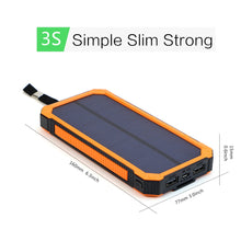 Load image into Gallery viewer, Waterproof Solar Charger Power Bank