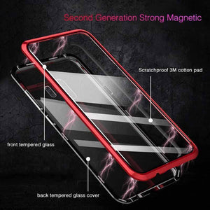 2019 New Magnetic Adsorption Glass Cover Case for Samsung Galaxy