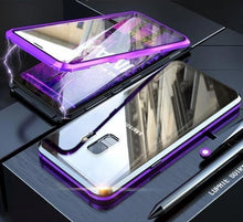 Load image into Gallery viewer, 2019 New Magnetic Adsorption Glass Cover Case for Samsung Galaxy