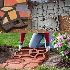 Reusable Path Floor Mould DIY Path Maker Garden Lawn Paving Concrete Mold