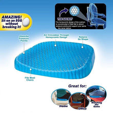 Load image into Gallery viewer, Honeycomb Cooling Gel Support Seat Cushion - Ergonomic & Orthopaedic Designed