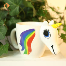 Load image into Gallery viewer, 3D Unicorn Color Changing Ceramic Mug