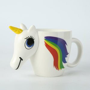 3D Unicorn Color Changing Ceramic Mug